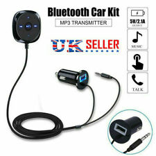 More details for car aux bluetooth receiver handsfree kit fm transmitter mp3 player usb charger