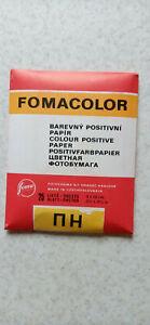 Vintage Czechoslovakian Color Glossy Photo Paper Fomacolor 25sheets 9x12cm