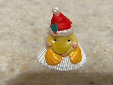 Hallmark 1992 Christmas Merry Miniature Goldfish in Santa Hat and Gold Sticker