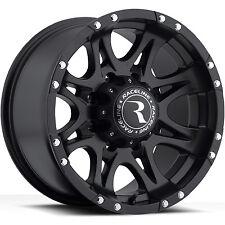 17 Black Raceline Raptor Wheels 8x165.1 8 Lug Chevy GMC 2500HD Dodge Ram 2500