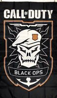 Call of Duty Flag 3x5 ft Vertical Black Banner Man-Cave Decor Garage Gaming
