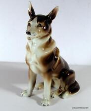 Vintage Germany German Shepherd Brown & White Dog Figurine 6995