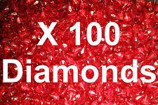100 LEGO traslucido rosso gemme di diamante gioielli CITY Pirata Castello con Bastone