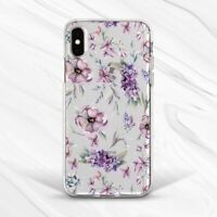 Purple Floral Vintage Flower Gift Case For iPhone 6S 7 8 Xs XR 11 Pro Plus Max
