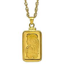 5 gram Gold Pendant - PAMP Suisse Fortuna (w/Chain) - SKU #85555
