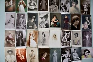 Job Lot Bundle Collection of Postcards Vintage Glamour Beauty Actress Ladies x32