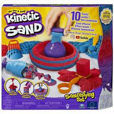 Kinetic Sand 6047232, Sandisfying Set With 906 G Of And 10 Tools, For Kids Gift