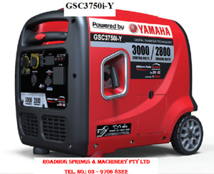 GENERATOR - 3.75kVa Inverter Silenced Yamaha Motor PETROL Part No.: GSC3750i-Y