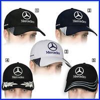 Mercedes Benz Casquette 3D Brodé Logo Auto Voiture Chapeau Baseball Cap Homme