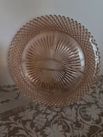 VINTAGE MISS AMERICA PINK DEPRESSION GLASS GRILL DIVIDED PLATE~MINTY~