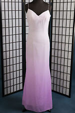 Bridesmaid Pageant Joli Prom Lilac Fit-N-Flare Chiffon Spaghetti Straps Size:12