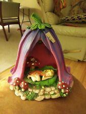 Sleeping Fairy Flower House Miniature