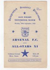 More details for arsenal v all stars x1 1952-53 alex wilson testimonial at brighton goldstone