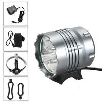 10000Lm 5x XM-L T6 LED Headlamp Head Front Bicycle Torch Lamp Headlight 4x18650