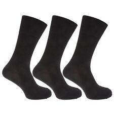 Mens Pierre Roche Black Non Elastic Top Ankle Socks UK 6-11 3 Pairs 40B338