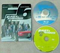 Fast Furious 6 (Blu-ray/DVD, 2013, 2-Disc Set, Metal Case) Used - Free Shipping