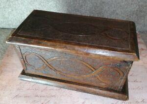 Vintage/antique Hand Carved Wooden Box made 1927