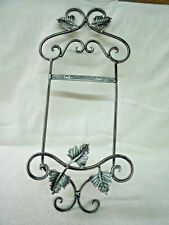 Plate~ Display Rack -Wall Mount  Single Plate Holder--Pewter with Ivy Leaves