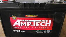 AMP -TECH DEEP CYCLE BATTERIES D70Z 105 amp CAMPING 4X4 SUPER CHARGE BATTERIES