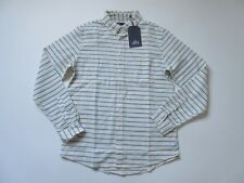 Levi's Made & Crafted White Waffle Stripe Standard Button Shirt 4 / XL