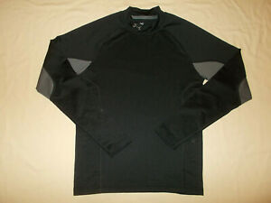 UNDER ARMOUR COLD GEAR LONG SLEEVE BLACK FITTED TOP MENS MEDIUM EXCELLENT COND.
