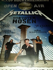Metallica Toten Hosen Hockenheim 2009 Tour Konzert Plakat Concert Poster 84cm