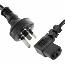 "2m AU 3 Pin to Right Angle IEC ""kettle"" Plug 240v Mains Power Lead"