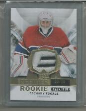 """2015-16 UD Premier Rookie Patch 3/25 Zachary Fucale Montreal  """"E"""" white/black"""