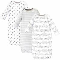 Touched By Nature Organic Cotton Gown, 3-Pack, Safari