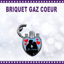 Briquet gaz cœur personnalisé JE T'AIME (V1) -  cadeau