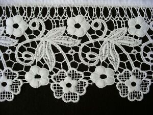 New Pillowcases (2) Embroidered Lace Cotton Sateen Standard Queen King White S9#