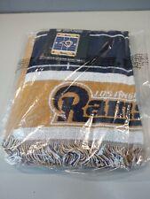 NFL Licensed Triple Woven Los Angeles Rams Afghan Throw Baby Blanket NEW
