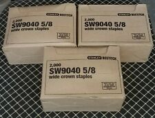 "Stanley Bostitch Sw 9040 5/8"" Staples 3 Boxes of 2,000"