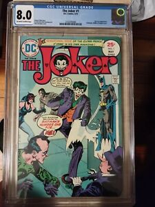 Joker 1975 DC Issues 1-3 all CGC Graded - 8.0, 7.0, 6.5 - Not pressed! Nice set!
