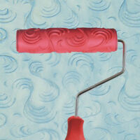 """Embossed Paint Roller with Handle 04 7/"""" Easy Brush Sleeve Texture Tool"""