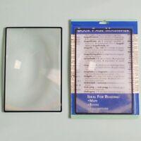 Zinn Leselupe Folienlupe Karte Lupe Blatt X3 Buch Seite Lesen A5 180*120mm eNwrg