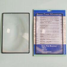 Zinn Leselupe Folienlupe Karte Lupe Blatt X3 Buch Seite Lesen A5 180*120mm