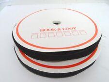25 metres Sew-on Hook & Loop tape Black 20mm