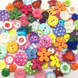150 - MIXED - BUTTONS - WOODEN - PLASTIC- SEW- CRAFT - XMAS - BUY 5 GET 1 FREE