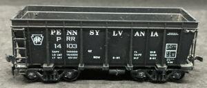 ROUNDHOUSE PRR #14103 PENNSYLVANIA HIGH SIDE ORE CAR, black, vintage
