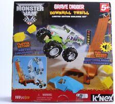 K'Nex Monster Jam Downhill Destruction Silver Grave Digger Building Set