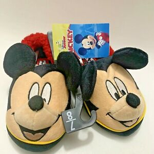 Toddler Boy's Disney Junior Mickey Mouse Plush House Shoes Slippers Size 7/8