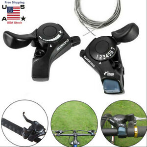 FANKUNYIZHOUSHI Bike Speed Shifter Bicycle Shifter Set Rapid Fire Thumb Shifter 8//24 Speed Lever Set Black with Inner Shift Cables