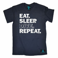 Eat Sleep Dive Repeat Open Water MENS T-SHIRT tee birthday gift funny diving