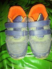 Boys Gray Sneakers Teal trim - Lightweight - Us 11