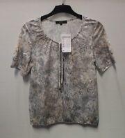 Bonita Damen Shirt Beige mit Muster Gr. S (NF213)