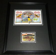 Chuck Tanner Signed Framed Card & 1979 Iron City Beer Can Display Pirates
