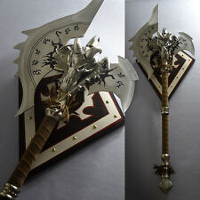 """Shadowmourne Replica Metal axe 43"""" Life Size Lich King WOW Cosplay Props Gift"""