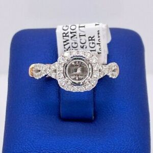 14k White & Rose Gold 0.75 CT Diamond Twisted Engagement Ring Mounting ,  S13863
