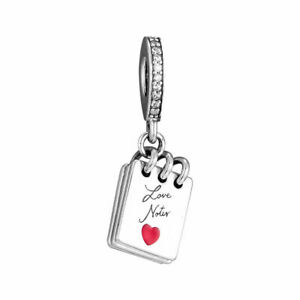 Authentic Pandora LOVE NOTES DANGLE #797835CZ Charm With Pouch new